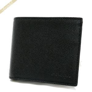 コーチ COACH 財布 メンズ 二つ折り財布 シンプル レザー ブラック F59111 BLK 【コーチアウトレット】[在庫品]|brandol