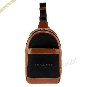 コーチ COACH メンズ ボディバッグ ナイロン×レザー ブラウン×ブラック F59320 FD7 【コーチアウトレット】 [在庫品]|brandol
