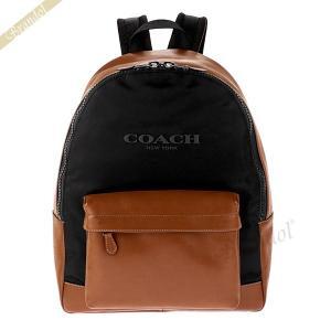 コーチ COACH メンズ・レディース リュックサック ナイロン×レザー バックパック ブラウン×ブラック F59321 FD7 【コーチアウトレット】 [在庫品]|brandol