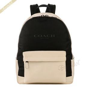 コーチ COACH メンズ・レディース リュックサック ナイロン×レザー バックパック ホワイト×ブラック F59321 HA/BK 【コーチアウトレット】 [在庫品]|brandol