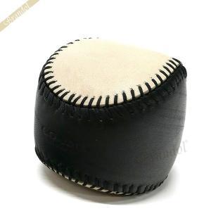 コーチ COACH メンズ・レディース ペーパーウェイト ベースボール レザー ブラック×アイボリー系 F62147 BK/PH 【コーチアウトレット】[在庫品]|brandol