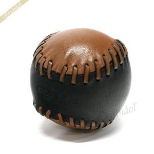 コーチ COACH ペーパーウェイト ベースボール レザー 文鎮 ブラック×ブラウン F65249 BK/SD [在庫品]|brandol