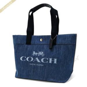 《クーポン配布中》コーチ COACH レディース トートバッグ ロゴ キャンバス デニムトート ブル...
