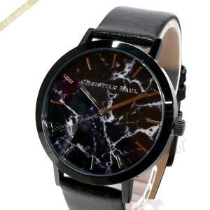 クリスチャンポール Christian Paul メンズ・レディース腕時計 マーブル コレクション The Strand Marble 43mm ブラック MR-01|brandol