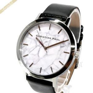 クリスチャンポール Christian Paul メンズ・レディース腕時計 マーブル コレクション Elwood Marble 43mm ホワイト×ブラック MR-05|brandol