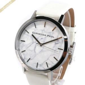 クリスチャンポール Christian Paul メンズ・レディース腕時計 マーブル コレクション Hayman Marble 43mm ホワイト×シルバー MR-08 [在庫品]|brandol