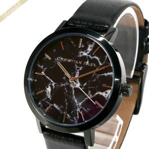 クリスチャンポール Christian Paul レディース腕時計 マーブル コレクション The Strand Marble 35mm ブラック MRL-01 [在庫品]|brandol