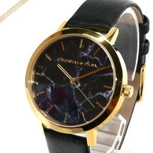 クリスチャンポール Christian Paul レディース腕時計 マーブル コレクション Brighton Marble 35mm ブラック×ゴールド MRL-04 [在庫品]|brandol