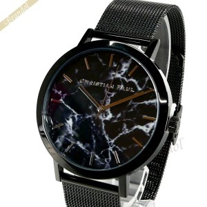 クリスチャンポール Christian Paul メンズ・レディース 腕時計 マーブル コレクション The Strand Marble 43mm ブラック MRM-01 [在庫品]|brandol