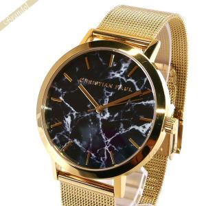 クリスチャンポール Christian Paul メンズ・レディース 腕時計 マーブル コレクション Brighton Marble 43mm ブラック×ゴールド MRM-04 [在庫品]|brandol
