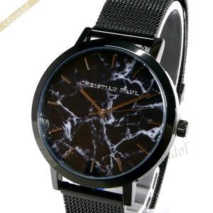 クリスチャンポール Christian Paul レディース腕時計 マーブル コレクション The Strand Marble 35mm ブラック MRML-01 [在庫品]|brandol