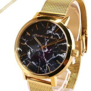 クリスチャンポール Christian Paul レディース腕時計 マーブル コレクション Brighton Marble 35mm ブラック×ゴールド MRML-04 [在庫品]|brandol