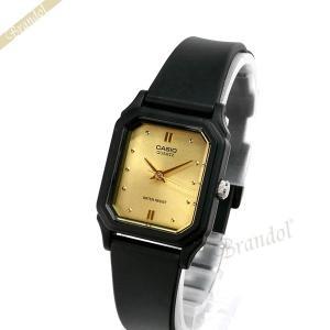 カシオ CASIO レディース腕時計 チプカシ スタンダード 海外モデル スクエア ゴールド×ブラック LQ-142E-9A [在庫品]|brandol