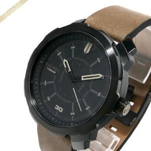 ディーゼル DIESEL メンズ腕時計 マシナス MACHINUS 46mm ブラック×ベージュ DZ1788|brandol