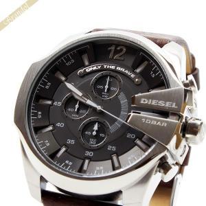 ディーゼル DIESEL メンズ腕時計 メガチーフ クロノグラフ Mega_Chief 52mm ダークグレー×ブラウン DZ4290 [在庫品]|brandol