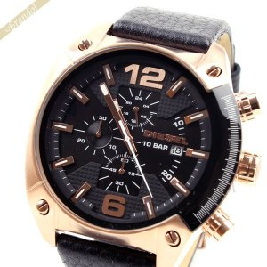 ディーゼル DIESEL メンズ腕時計 オーバーフロー クロノグラフ Overflow 49mm ブラック×ローズゴールド DZ4297 [在庫品]|brandol