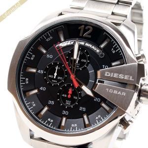 ディーゼル DIESEL メンズ腕時計 メガチーフ クロノグラフ Mega Chief 52mm ブラック×シルバー DZ4308 [在庫品]|brandol