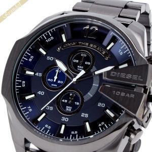 ディーゼル DIESEL メンズ腕時計 メガチーフ クロノグラフ Mega Chief 58mm ネイビー×ブラック DZ4329 [在庫品]|brandol