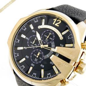 ディーゼル DIESEL メンズ腕時計 メガチーフ クロノグラフ Mega Chief 58mm ブラック×ゴールド ブラック×ゴールド DZ4344 [在庫品]|brandol