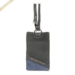 ディーゼル DIESEL カードケース メンズ ツートンカラー デニム IDホルダー ブラック×ブルー X02989 PS778 H3820|brandol