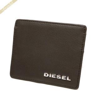 ディーゼル DIESEL 定期入れ メンズ レザー カードケース ブラウン X03153 PS777 T2184[在庫品]|brandol