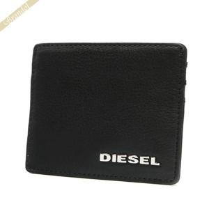 ディーゼル DIESEL 定期入れ メンズ レザー カードケース ブラック X03153 PS777 T8013 [在庫品]|brandol