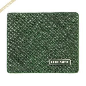ディーゼル DIESEL カードケース メンズ JOHNAS レザー 定期入れ グリーン X03345 P0517 H5429|brandol