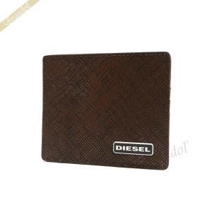 ディーゼル DIESEL カードケース メンズ JOHNAS レザー パスケース ブラウン X03345 P0517 H6028|brandol
