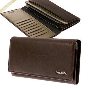 ディーゼル DIESEL メンズ 長財布 レザー ブラウン X03359 PR013 H6030 [在庫品]|brandol