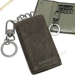 ディーゼル DIESEL キーケース メンズ 6連 レザー ダークブラウン×グレー系 X03615 P1075 H6184 [在庫品]|brandol
