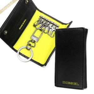 ディーゼル DIESEL キーケース メンズ FRESH STARTER 6連 レザー ブラック×イエロー X03615 PR818 H2926 [在庫品]|brandol