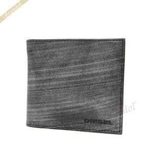 ディーゼル DIESEL メンズ 二つ折り財布 レザー グレー X03918 PR602 T8013|brandol