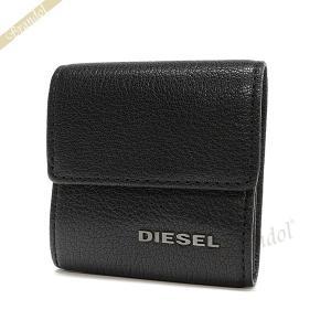 ディーゼル DIESEL メンズ 小銭入れ KOPPER レザー コインケース ブラック X03920 PR271 T8013 [在庫品]|brandol