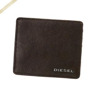 ディーゼル DIESEL カードケース メンズ レザー定期入れ ブラウン X03921 PR271 T2189 [在庫品]|brandol