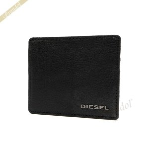 ディーゼル DIESEL カードケース メンズ レザーパスケース ブラック X03921 PR271 T8013 [在庫品]|brandol