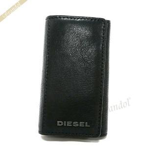 ディーゼル DIESEL キーケース メンズ JEM-J 6連 レザー ブラック X03922 PR271 T8013 [在庫品]|brandol