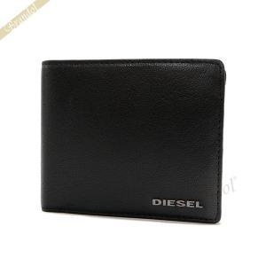 ディーゼル DIESEL メンズ 二つ折り財布 レザー ブラック X03925 PR271 T8013 [在庫品]|brandol