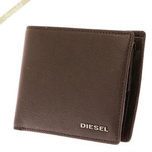 ディーゼル DIESEL 財布 メンズ 二つ折り財布 HIRESH S レザー ダークブラウン X03926 PR271 T2189 [在庫品]|brandol