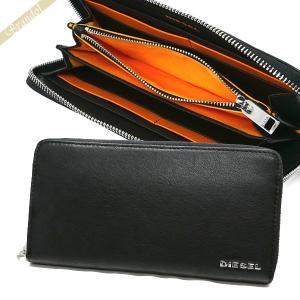 ディーゼル DIESEL 財布 メンズ ラウンドファスナー長財布 レザー ブラック×オレンジ X04458 PR227 H6586 【2018年春夏新作】|brandol