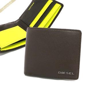 ディーゼル DIESEL 財布 メンズ 二つ折り財布 HIRESH S ゴートレザー ブラウン X04459 PR013 H6252 [在庫品]|brandol