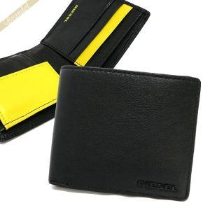 ディーゼル DIESEL 財布 メンズ 二つ折り財布 FRESH STARTER HIRESH S ゴートレザー ブラック×イエロー X04459 PR227 H3350 【2017年秋冬新作】[在庫品]|brandol