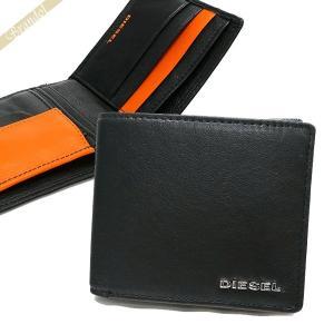 ディーゼル DIESEL 財布 メンズ 二つ折り財布 FRESH STARTER HIRESH S ゴートレザー ブラック×オレンジ X04459 PR227 H6586 【2018年春夏新作】[在庫品]|brandol