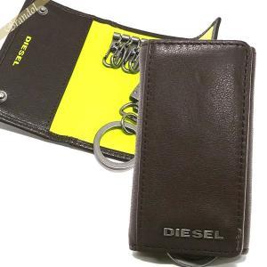 ディーゼル DIESEL キーケース メンズ KEYCASE O キーリング付 レザー ブラウン×イエロー X04462 PR013 H6252 [在庫品]|brandol
