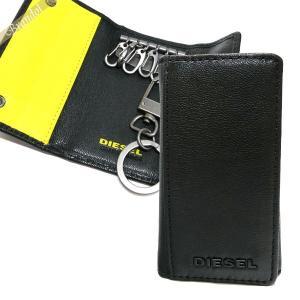 ディーゼル DIESEL キーケース メンズ FRESH STARTER ゴートレザー ブラック×イエロー X04462 PR227 H3350 [在庫品]|brandol