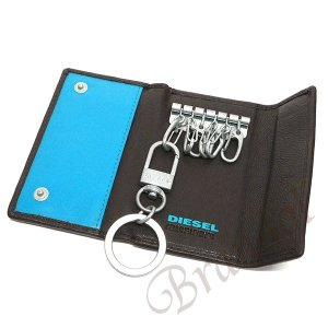 ディーゼル DIESEL キーケース メンズ FRESH STARTER レザー ブラウン×ライトブルー X04462 PR227 H6475 [在庫品]|brandol|05