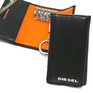 ディーゼル DIESEL キーケース メンズ FRESH STARTER ゴートレザー ブラック×オレンジ X04462 PR227 H6586 【2018年春夏新作】 [在庫品]|brandol