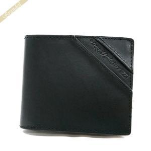 ディーゼル DIESEL 財布 メンズ 二つ折り財布 RAWFLAG HIRESH S レザー ブラック X04755 PR480 T8013 [在庫品]|brandol