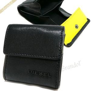ディーゼル DIESEL 財布 メンズ 小銭入れ ゴートレザー コインケース ブラック×イエロー X04767 PR227 H3350 [在庫品]|brandol