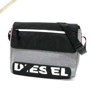 ディーゼル DIESEL メンズ ショルダーバッグ F-SCUBA メッセンジャーバッグ ブラック×グレー X04810 P1529 T8087 [在庫品]|brandol