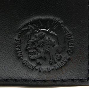 ディーゼル DIESEL 財布 メンズ 二つ折り財布 モヒカンスタンプ HIRESH S シープレザー ブラック X05081 P1508 T8013 【2018年春夏新作】[在庫品] brandol 05